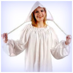 Long White Peasant Medieval and Renaissance Lady Undergarments - DeluxeAdultCostumes.com