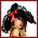 Lady Pirate Hats & Lady Pirate Headwear