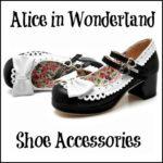 Alice in Wonderland Costume Shoe Accessories - DeluxeAdultCostumes.com